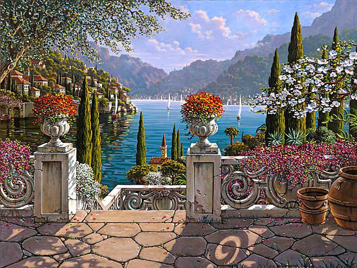 Lake Como Painting