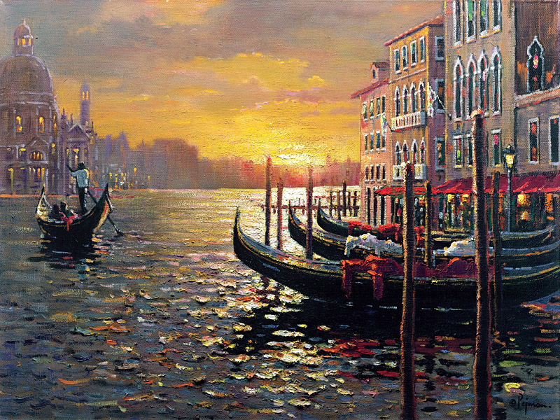 Bob Pejman's Sunset on the Grand Canal - Venice